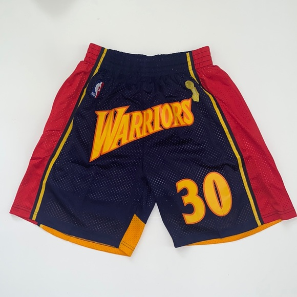 Golden State Warriors Steph Curry Retro Shorts L